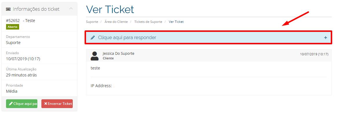 Responder Ticket