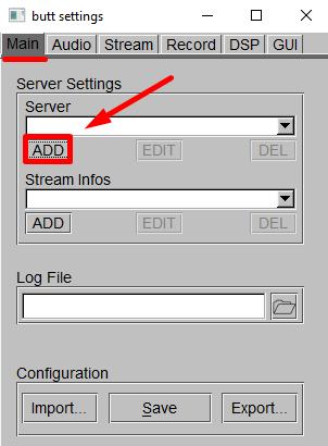 Adicionar Server