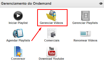 Gerenciar Videos