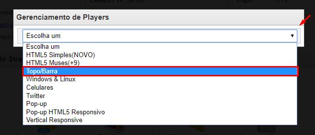 Escolhendo Player