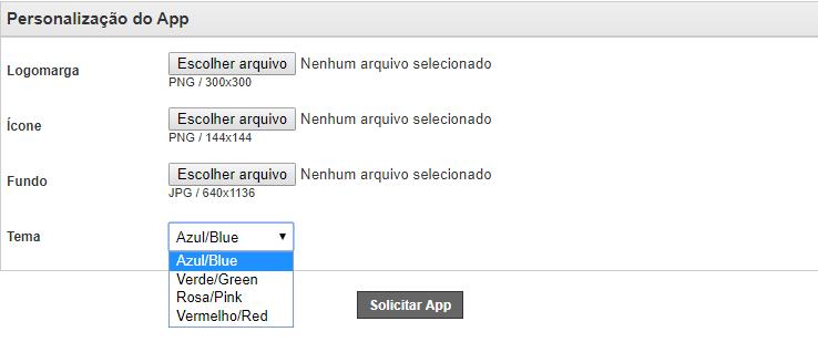 Personalizando o aplicativo