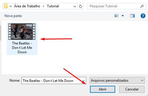 Escolher arquivos no computador
