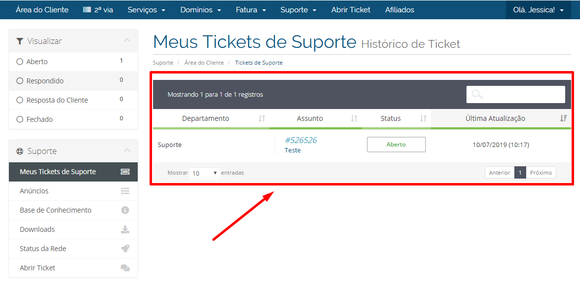 Visualizar Tickets